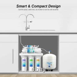 100GPD 5 / 6-Stage Reverse Osmosis Water Filter System Under Sink Water Purifier