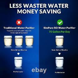 100 GPD 5 Stage Reverse Osmosis System Water Filtration System + 15 Extra Filter