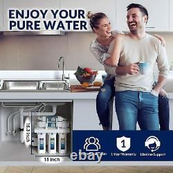 100 GPD 5 Stage Reverse Osmosis System Water Filtration System + 7 Extra Filter