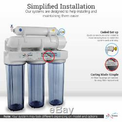 100 GPD Drinking 5 stage Reverse Osmosis System Desginer Brushed Nickel Faucet
