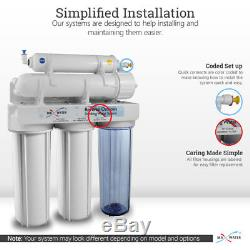 10 Stage Home Undersink Alkaline + Reverse Osmosis RO Mix Housing System 50 GPD