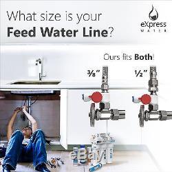 10-Stage Undersink Reverse Osmosis Alkaline Mineral Water Filter System 100 GPD