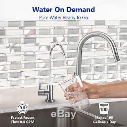 10-Stage Undersink Reverse Osmosis + Alkaline Mineral Water Filter System 50 GPD