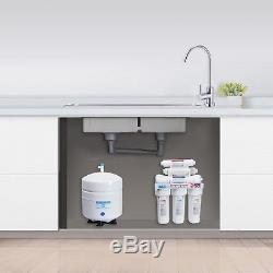 10 Stage Undersink Reverse Osmosis RO Water Filter System Alkaline pH+ 100 GPD