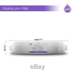 10 Stage White Housing Alkaline + Reverse Osmosis RO Mix Housing System 50 GPD