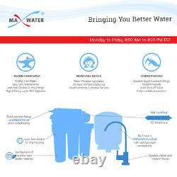 10 Stage White Housing Alkaline + Reverse Osmosis RO Water Filter System 100GPD