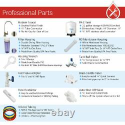 11 Stage DI, PH 5-1 Alkaline 50GPD Drinking RO System with BN Modern Faucet