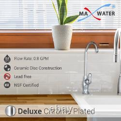 11 Stage DI, PH 5-1 Alkaline 50GPD Drinking RO System with CP Designer Faucet