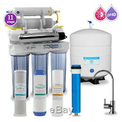 11 Stage Max Water UV, PH 5-1 Alkaline 50GPD Drinking Reverse Osmosis System
