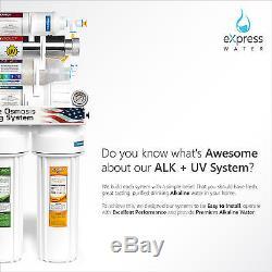 11-Stage Reverse Osmosis Water Filter System Ultraviolet Alkaline Pressure Gauge