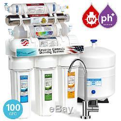 11-Stage Reverse Osmosis Water Filtration System UV Ultraviolet Alkaline Modern