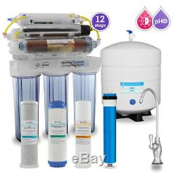 12 Stage UV DI PH 5-1 Alkaline 50GPD Drinking Ro System with CP Designer Faucet