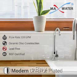 12 Stage UV, DI PH 5-1 Alkaline 50GPD Drinking Ro System with CP Modern Faucet