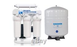 150 GPD Light Commercial Reverse Osmosis Water Filter System + 6 gal tank + Pump