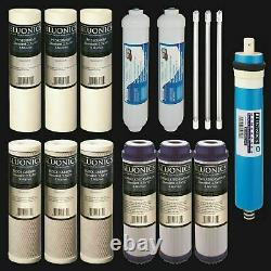 15 pcs Replacement Water Filter Set for our 6 Stage UV Reverse Osmosis System