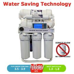 1600 GPD Direct Flow Reverse Osmosis Pumped System LCD controller, Auto Flush