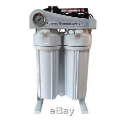 380 GPD 2 Pod Direct Flow Reverse Osmosis System pump, Auto Flush, LCD control