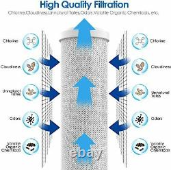3 Stage 104.5 -Inch Big Blue Water Filter Whole House Water Filtration System