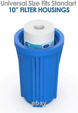 3 Stage 10 -Inch Big Blue Water Filters for Whole House Water Softener System