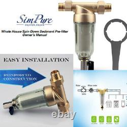 3 Stage 20 inch Housing for Under Sink Reverse Osmosis Water Filtration System-4