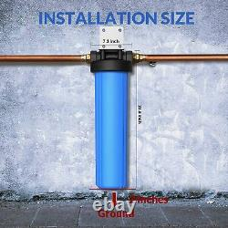 3-Stage Big Blue 20 Whole House System 1 Port, Sediment, Pleated Filters
