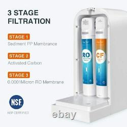 3-Stage SimPure Y7 UV Countertop Water Filter Dispenser Reverse Osmosis System