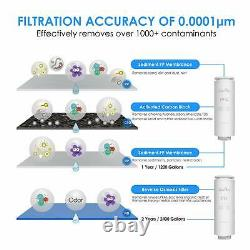 400G Large Flow 3 Stage RO Reverse Osmosis System Drinking Water Filter Purifier