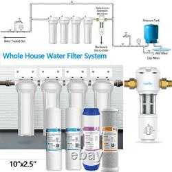 4-Stage 10 Whole House System Carbon, Sediment, Update Spin Down Water Pre Filter