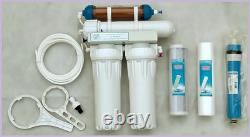 4 Stage Aquatic Reverse Osmosis System RO Unit with refillable DI 150gpd