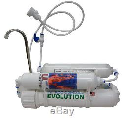4-stage Alkaline Countertop Reverse Osmosis RO Water Purification System, 75 GPD