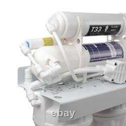50GPD Water Fiter 5-Stage Reverse Osmosis System Suspended Solids Removal 12.11L