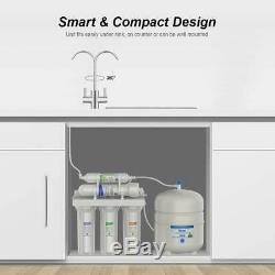 5Stage Reverse Osmosis Under Sink Cabinet Water Filter RO System+2-Year Supply