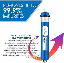 5 STAGE REVERSE OSMOSIS SYSTEM 100 GPD RO WATER FILTER 100% BPA Free