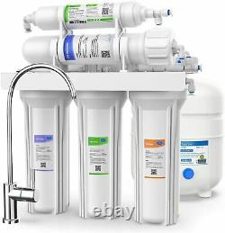 5 Stage 75GPD Under Sink Reverse Osmosis RO Drinking Water Purifier System