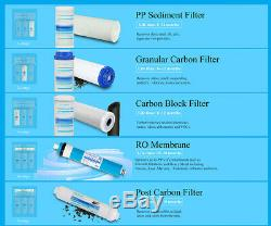 5 Stage 75GPD Undersink Home Drinking Reverse Osmosis RO Water Filter System