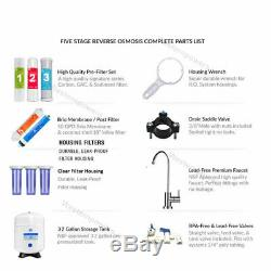 5 Stage Home Drinking Reverse Osmosis RO Water System Clear Plus All 5 Filters
