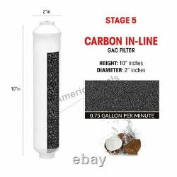 5 Stage Home Drinking Reverse Osmosis System + Filters + NSF Membrane Tank