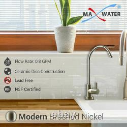 5 Stage Home Reverse Osmosis System 16 Water Filters 75GPD Modern Nickel Faucet