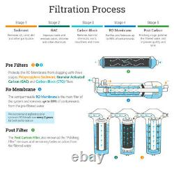 5 Stage Kitchen Home Drinking Reverse Osmosis System With 16 Water Filters 100 GPD
