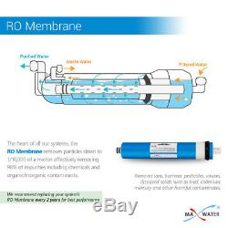 5 Stage Max Water Home Reverse Osmosis System with compression Tube Fittings