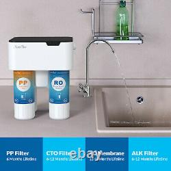 5 Stage PH Alkaline Reverse Osmosis Drinking Water Filter System Faucet Purifier