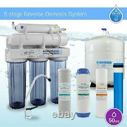 5 Stage Residential Drinking Reverse Osmosis System Max Water USA RO Filters