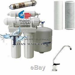 5 Stage Reverse Osmosis 50 GPD Alkaline/Ionizer Neg Orp Water Filter System