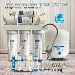 5-Stage Reverse Osmosis Deionization RO/DI Water Filter System filters 75GPD