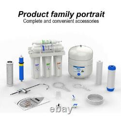 5 Stage Reverse Osmosis Drinking Water Filter RO System Water Purifier 100GPD