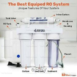 5 Stage Reverse Osmosis Drinking Water Filter System Plus 1 Yr. Filters 75 GPD