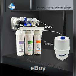 5 Stage Reverse Osmosis Drinking Water System RO Home Purifier FILTERS +All Part