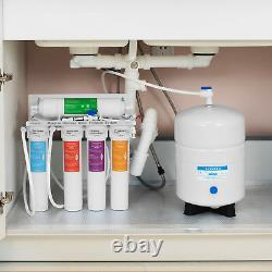 5 Stage Reverse Osmosis RO Water System with Quick Twist Change Filter 75 GPD