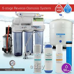 5 Stage Reverse Osmosis System with Booster Pump & Micro Computer TDS RO meter