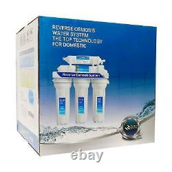 5 Stage Reverse Osmosis Water Filter System 10 RO Membrane Undersink Purifier